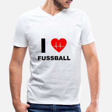 I Love Football I love football - I love football - Men's Organic V-Neck T-Shirt
