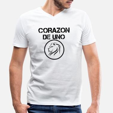 Corazon Corazon de Uno, heart of a lion - Men's Organic V-Neck T-Shirt by Stanley & Stella