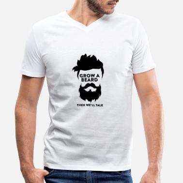 Beard beard - Men's Organic V-Neck T-Shirt