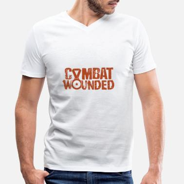 Combat Combat Wounded - Men's Organic V-Neck T-Shirt