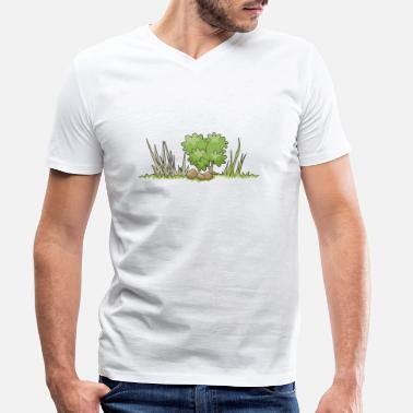 Bush bush - Men's Organic V-Neck T-Shirt