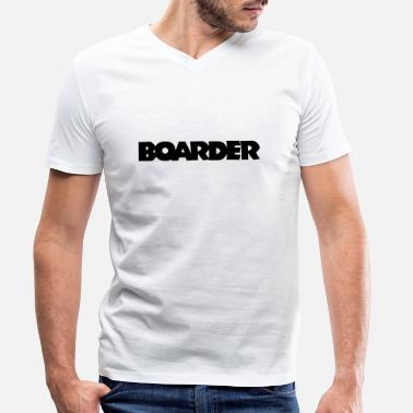 Boarder Boarder (Noire) - T-shirt bio col V Homme