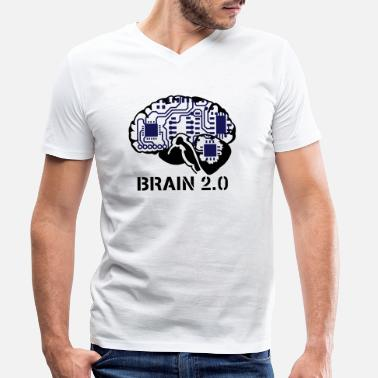 Website brain 2.0 - T-skjorte med V-hals for menn