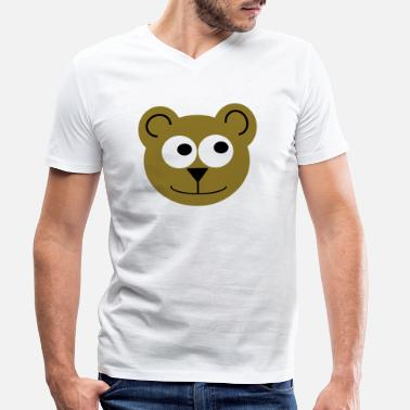 Sumu Lee Bear (glad) - T-shirt med V-ringning herr
