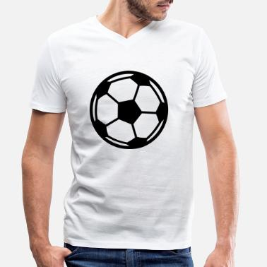 Soccer Ball Soccer Ball - Men's Organic V-Neck T-Shirt
