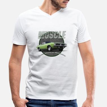Plymouth Barracuda Plymouth Muscle - Men's Organic V-Neck T-Shirt