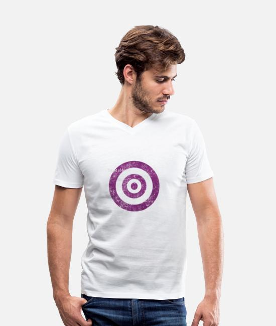 Graphic Art T-Shirts - target_of_desire_violet - Men's Organic V-Neck T-Shirt white