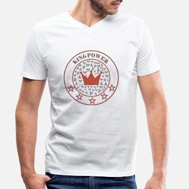 Power KING POWER - Men's Organic V-Neck T-Shirt