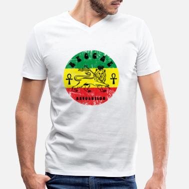 Jamaica Reggae eu - Men's Organic V-Neck T-Shirt