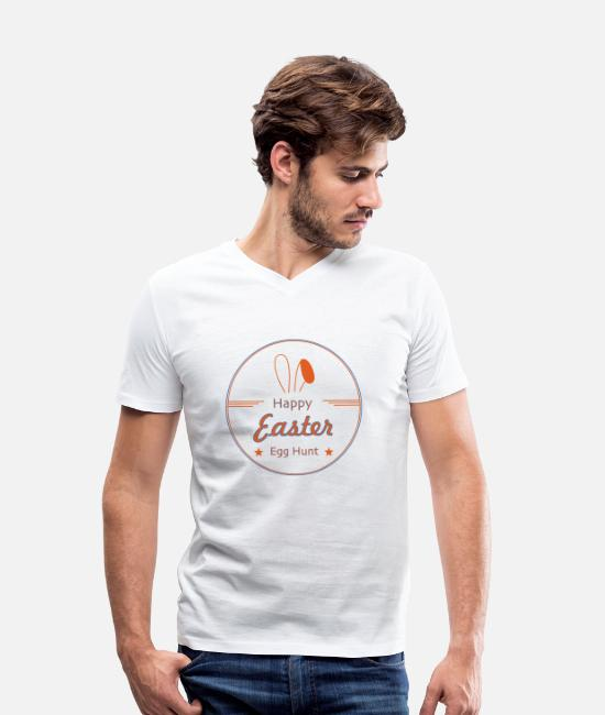 Easter T-Shirts - Happy Easter - Men's Organic V-Neck T-Shirt white