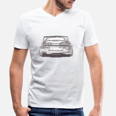 Sports Car Supra sports car car - Men's Organic V-Neck T-Shirt