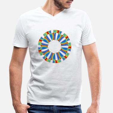 Circle Chakra Mandala Mantra OM Chaos Star Circle 5789j - Men's Organic V-Neck T-Shirt