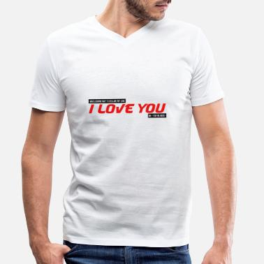 Cupid I was looking for how to tell you I love you couple - Men's Organic V-Neck T-Shirt