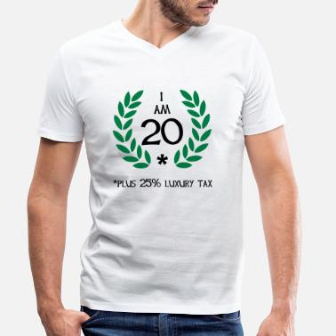 Motto 25 - 20 plus tax - Men's Organic V-Neck T-Shirt