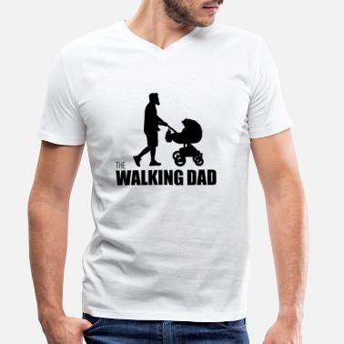 Papa Humour Humour marchant papa - T-shirt bio col V Homme
