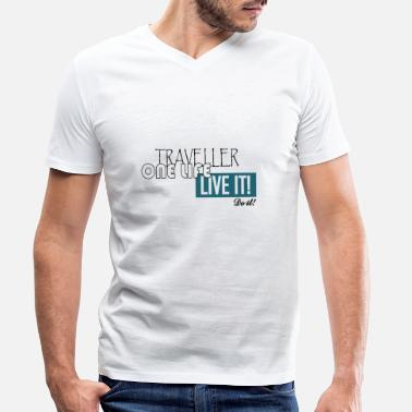One LIfe Live It - Men's Organic V-Neck T-Shirt