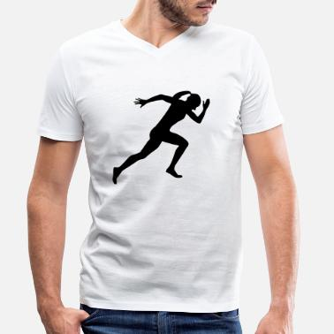 Sprinter Runner, running, sprinter (super cheap) - T-shirt bio col V Homme