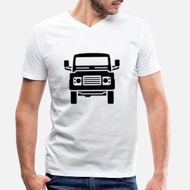 Land Landie Defender illustration - Autonaut.com - Men's Organic V-Neck T-Shirt