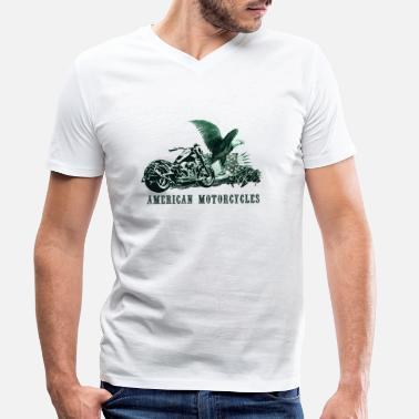 american motorcycles - T-shirt bio col V Homme