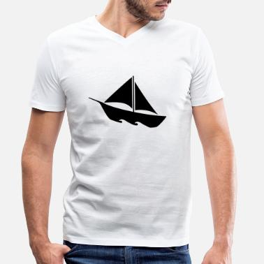 Boats boats - Men's Organic V-Neck T-Shirt