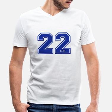 College 22 centimeter - Men's Organic V-Neck T-Shirt