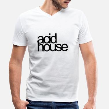 Acid House Acid House - Men's Organic V-Neck T-Shirt
