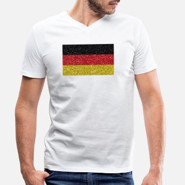 German Flag Germany flag flag home german tradition - Men's Organic V-Neck T-Shirt by Stanley & Stella