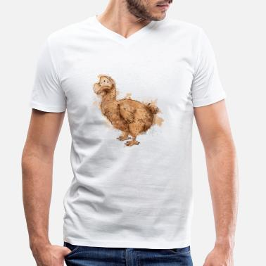 dodo bird illustration - Men's Organic V-Neck T-Shirt