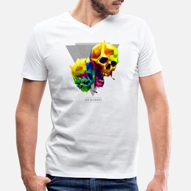 Mythical Collection V2 Skulls - Men's Organic V-Neck T-Shirt