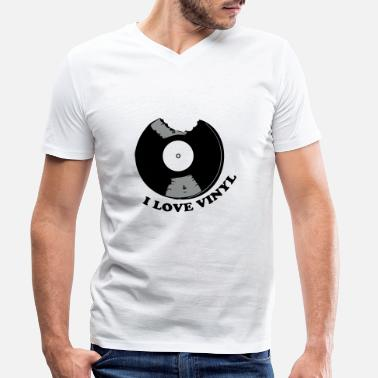 I Love Vinyl I Love Vinyl - Men's Organic V-Neck T-Shirt
