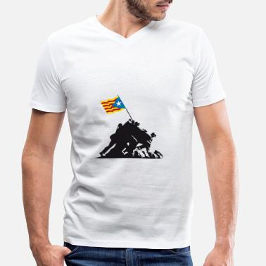 Catalan Iwo Jima Independent - Men's Organic V-Neck T-Shirt