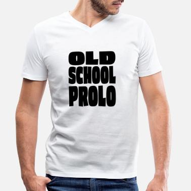 Proleet Old School Prolo - Mannen V-hals bio T-shirt