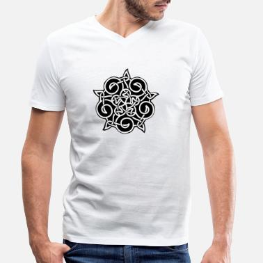 Ornamental ornament - Men's Organic V-Neck T-Shirt