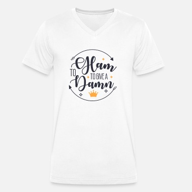 Charity To giive a damn engage and support charity work - Männer Bio T-Shirt mit V-Ausschnitt