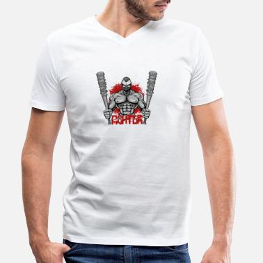 Fighter Fighter - Gangster with baseball bats gift - Men's Organic V-Neck T-Shirt