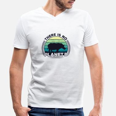 Save There Is No Planet B Earth Day - Men's Organic V-Neck T-Shirt
