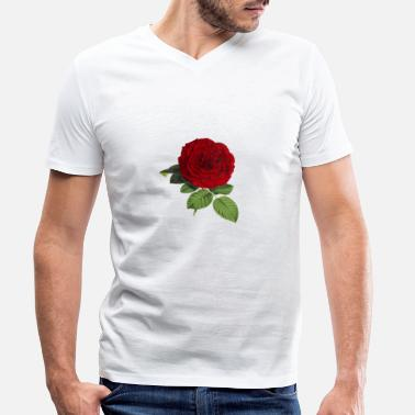 Blume Rose Blume - Men's Organic V-Neck T-Shirt
