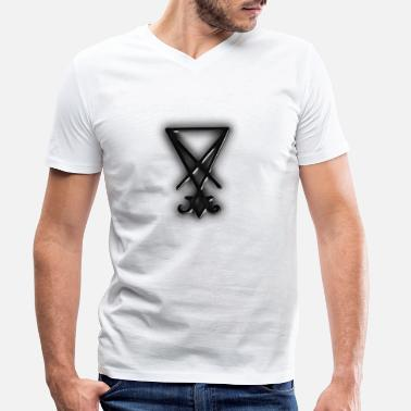 Sigil Lucifer enthroned black reign - Men's Organic V-Neck T-Shirt
