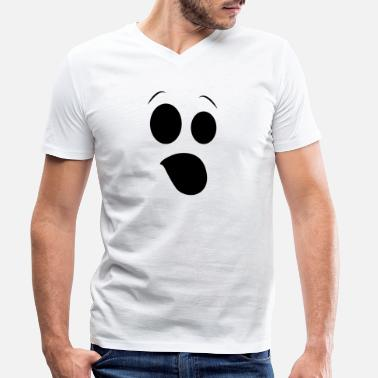 Cock Face Ghost Face Cocking - Halloween - Men's Organic V-Neck T-Shirt by Stanley & Stella