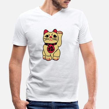 Bliss maneki neko - Men's Organic V-Neck T-Shirt