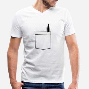 Breast Pocket Breast pocket - Men's Organic V-Neck T-Shirt