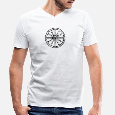 Wheel wheel - Men's Organic V-Neck T-Shirt