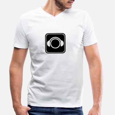 40aa65d78 Dj Íconos icono de la música auriculares para DJ - Camiseta con cuello de  pico hombre