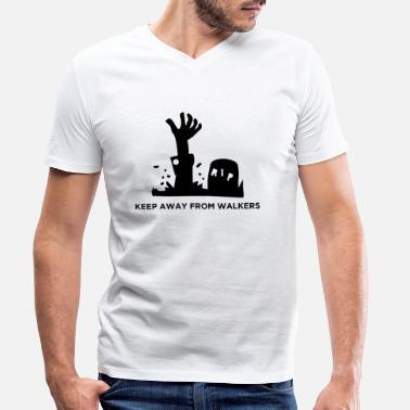 22723828 Halloween - RIP gravestone zombie - T-skjorte med V-hals for menn