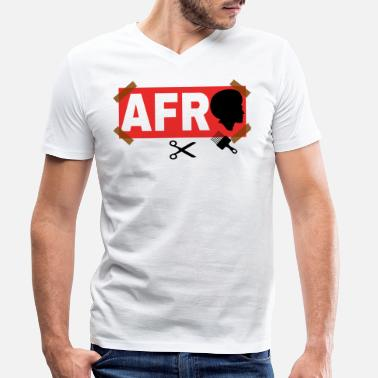 Afro AFRO - Men's Organic V-Neck T-Shirt