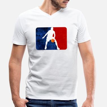 Basket Basketball basket Basket gift idea - Men's Organic V-Neck T-Shirt