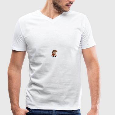 Pixel Player - Men's Organic V-Neck T-Shirt by Stanley & Stella