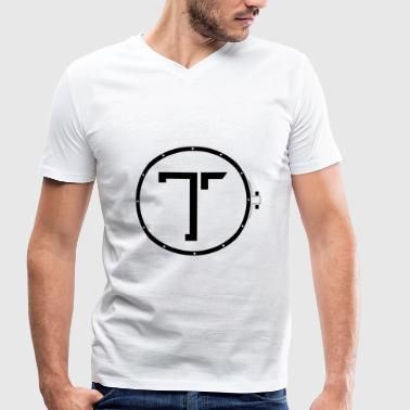 TK_Logo BLACK - Men's Organic V-Neck T-Shirt by Stanley & Stella