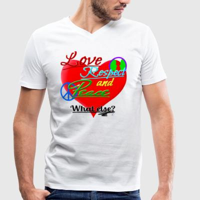 Love, respect and peace - Men's Organic V-Neck T-Shirt by Stanley & Stella