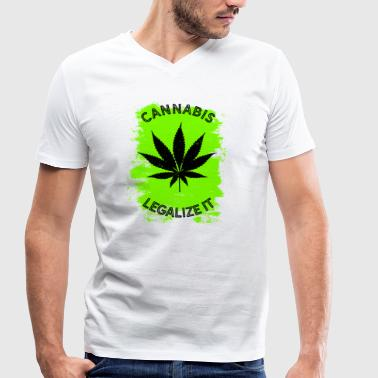 Legalize it Cannabis - Legalization Marijuana THC - Men's Organic V-Neck T-Shirt by Stanley & Stella